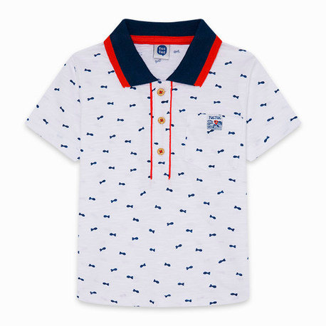 Tuc Tuc - White Fishes Polo Shirt