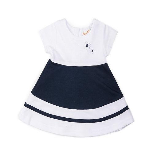 Babybol - Navy & White Dress