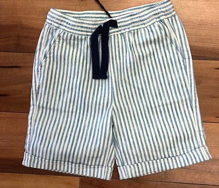 iDO - White & Blue Stripe Shorts