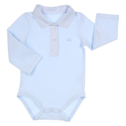 GYMP AERODOUX - Light Blue Polo Romper Shirt
