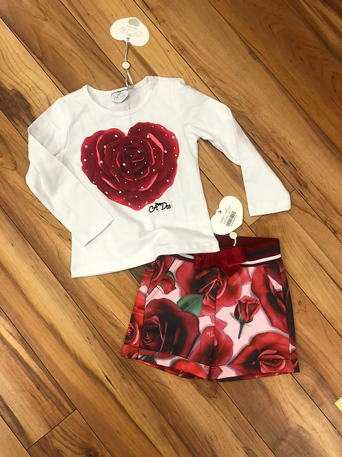 A Dee - Tyla Snow White Top & Shorts Set