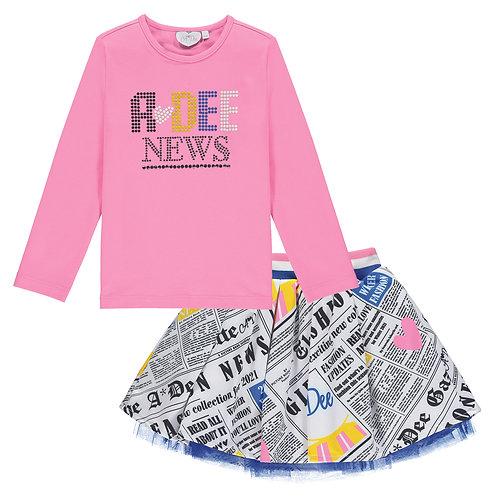 A Dee - Selena Newspaper Skirt Set