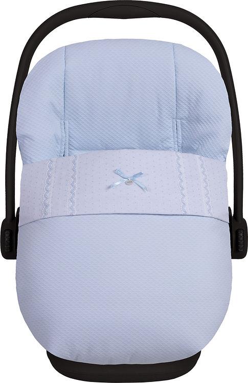 Lucero - Blue Bow Car Seat Footmuff