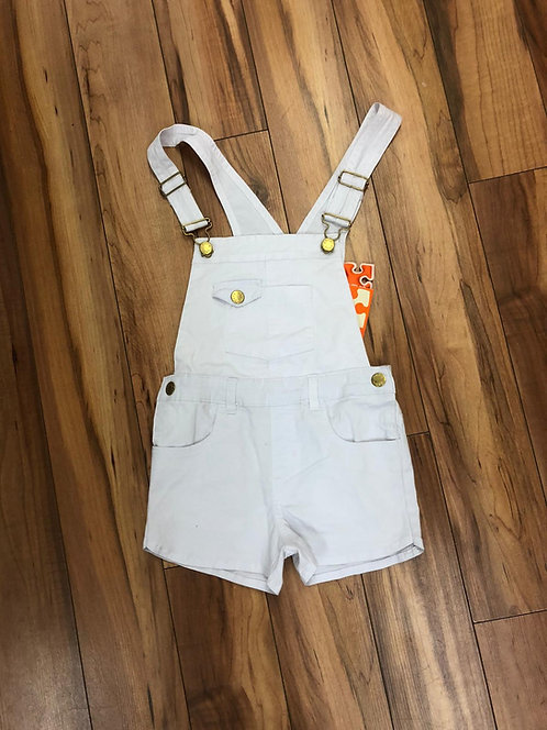 UBS2 - White Short Dungarees