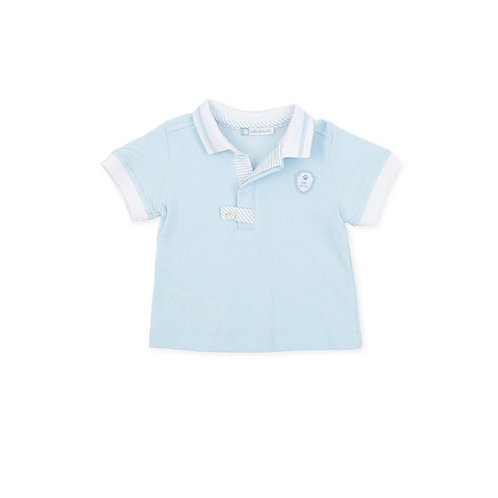 Tutto Piccolo - Danza Sky Blue Polo Neck