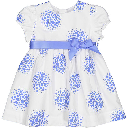 Birba - Blue and White Bow Dress
