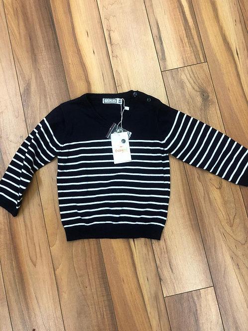 BabyBol - Navy and White Stripe Jumper