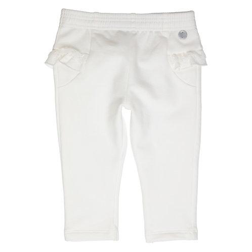 GYMP - Off-White Flounce & Lace Pants