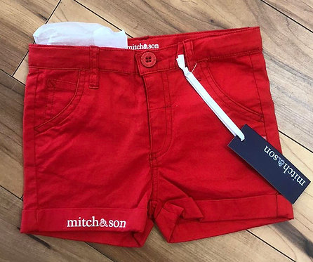 Mitch & Son - Sonny Red Shorts