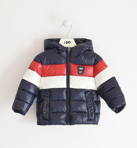 iDO - Navy Padded Jacket With Red