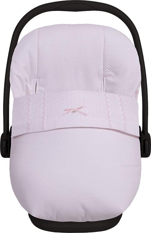 Lucero - Pink Bow Car Seat Footmuff