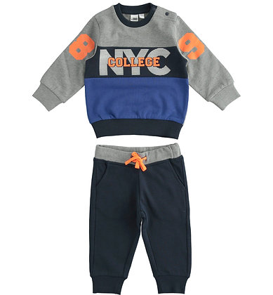 """iDO - """"NYC College"""" two-piece tracksuit for boy"""