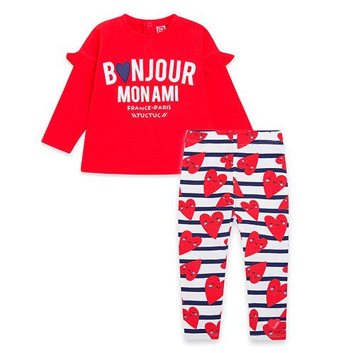 Tuc Tuc - Bonjour Red Top & Leggings