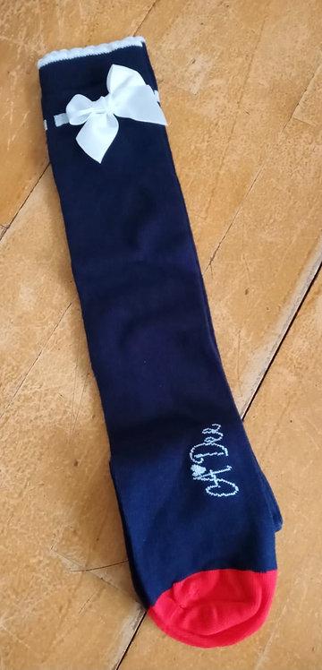 A Dee - Navy Knee Sock