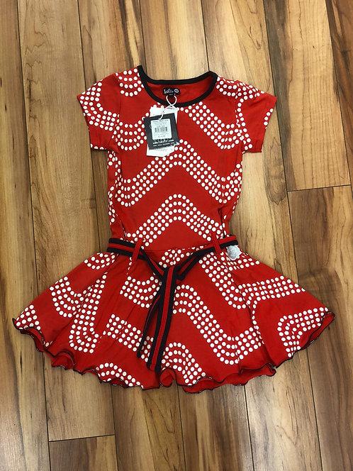 Lofff - Red Wave Dress