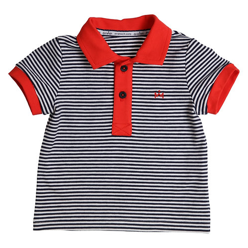 GYMP - Navy, White & Red Bicolor Polo