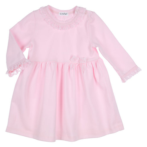 GYMP -  Light Pink Lace Ribbon Dress