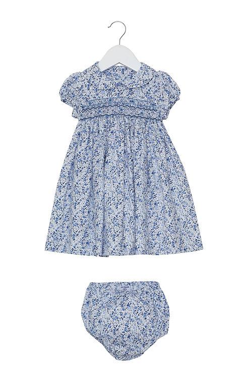 Little Larks - Evie Navy Blue Floral Dress