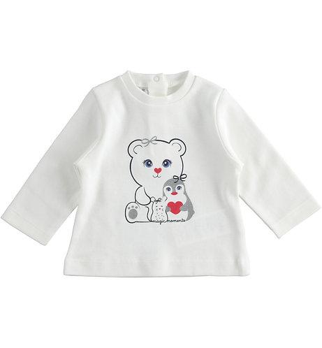iDO - Cream Teddy Bear Top