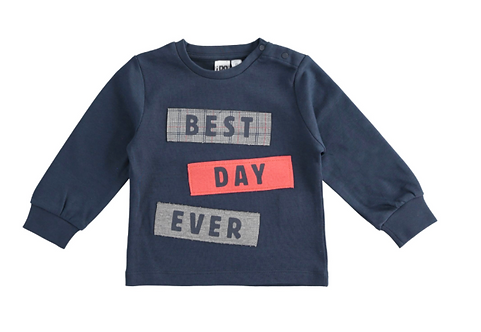 iDO - Navy Best Day Ever Long Sleeve