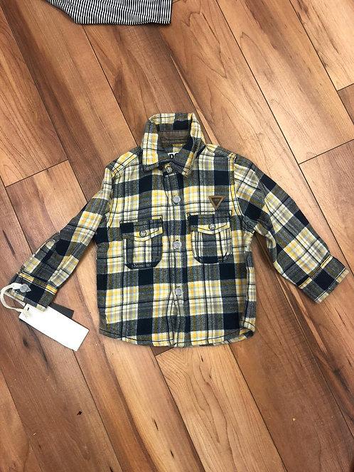 iDO- Lemon & Navy Check Shirt