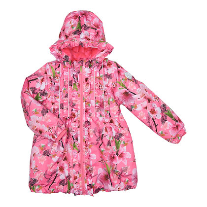 Happy Calegi - Pink Floral Winter Jacket