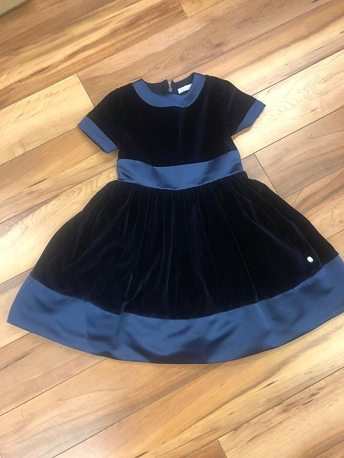 Patachou - Navy Velvet Dress