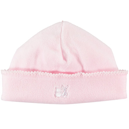Novel - Velour pull on Hat with picot edge - Pink