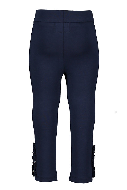 Le Chic - Navy Blue Legging Ruffle & Pearls Baby