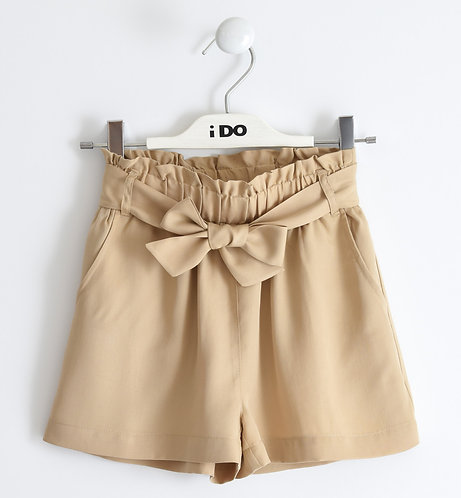 iDO - Beige Short Woven Shorts
