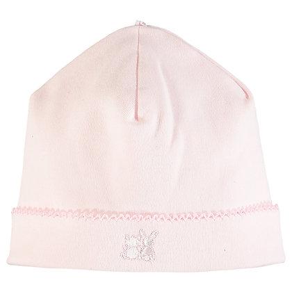 Genesis - Interlock pull on Hat with picot edge - Pink