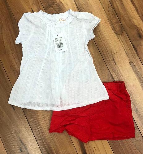 Babybol Top and Red Shorts