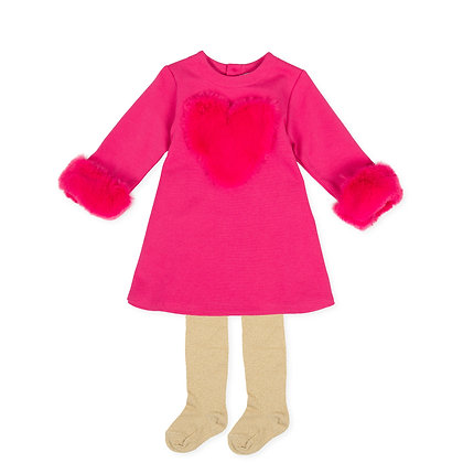 Agatha Ruiz de la Prada Nieve - Fuchsia Jersey Dress & Tights