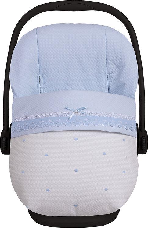 Cometa - Blue Dot Car Seat Footmuff