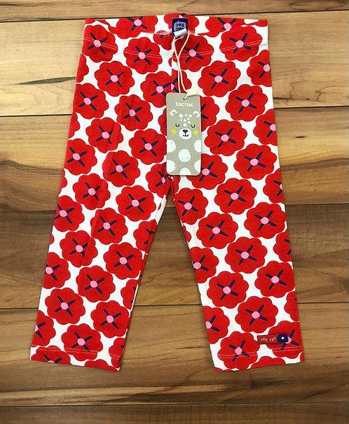 Tuc Tuc Red Flower Leggings