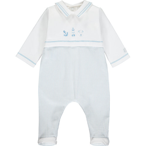Walsh - Pale Blue Traditional Babygrow