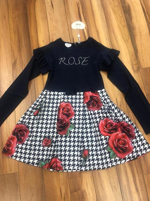 Arianna Dee - Blue Navy Rose Dress