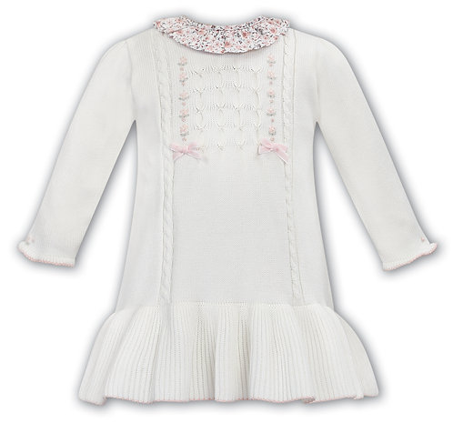 Sarah Louise - Ivory Knitted Cotton Dress