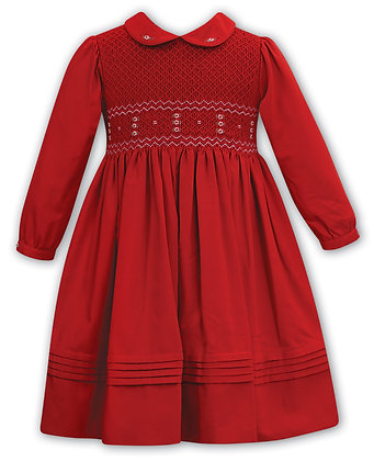 Sarah Louise - Red Hand-Smocked Dress