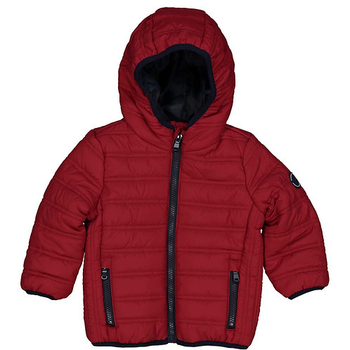 Birba - Red Padded Coat with Hood