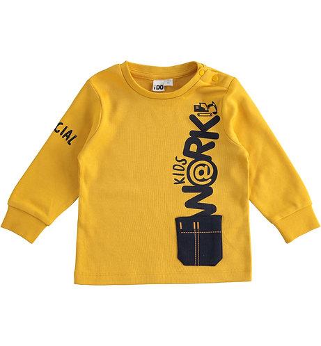 iDO - Yellow Long Sleeve Round Neck