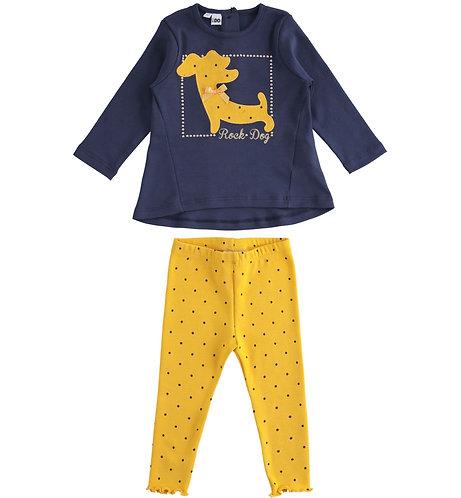 iDO - Navy & Yellow Dog Set