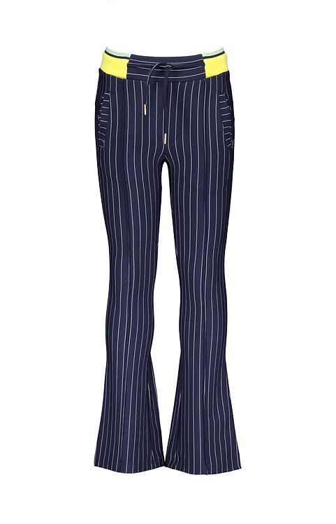 NoNo - Navy Solid flared pinstripe pants