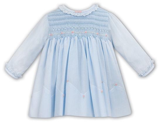 Sarah Louise - Blue Hand Smocked Dress