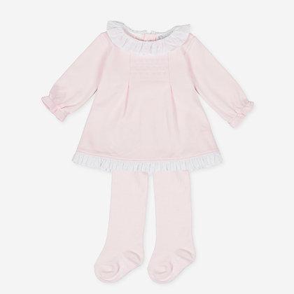 Tutto Piccolo P.Caroli - Pink Dress & Tights