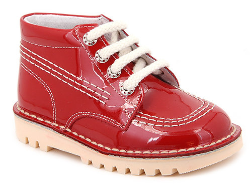 Leon Boots -  Red Patent