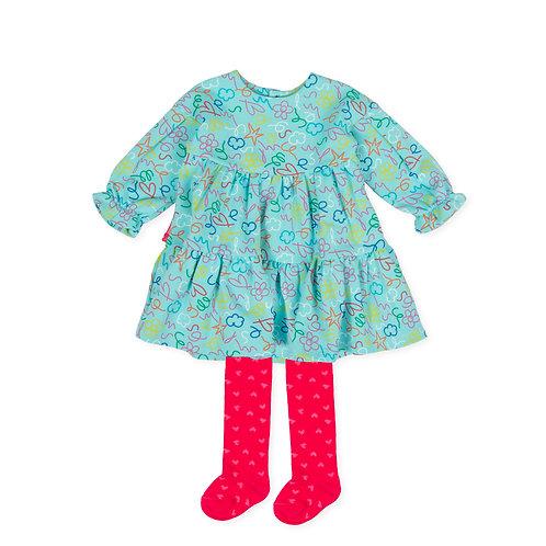 Agatha Ruiz de la Prada Fiesta - Turquoise Blue Dress & Tights