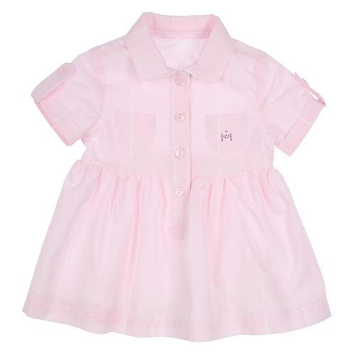 GYMP - Light Pink & White Polo Dress