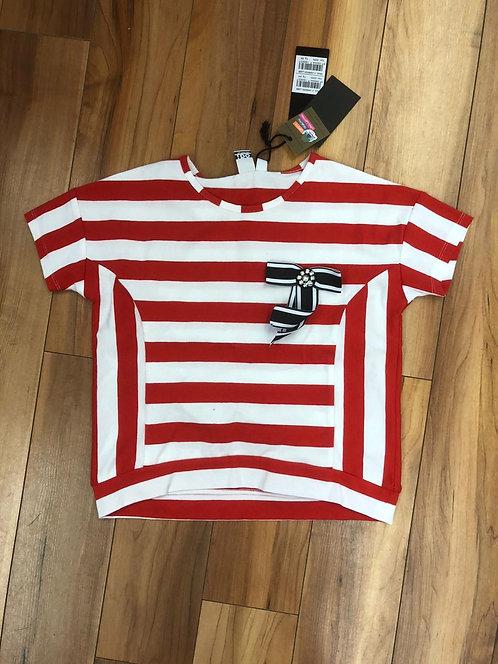 iDo Red Stripe Top