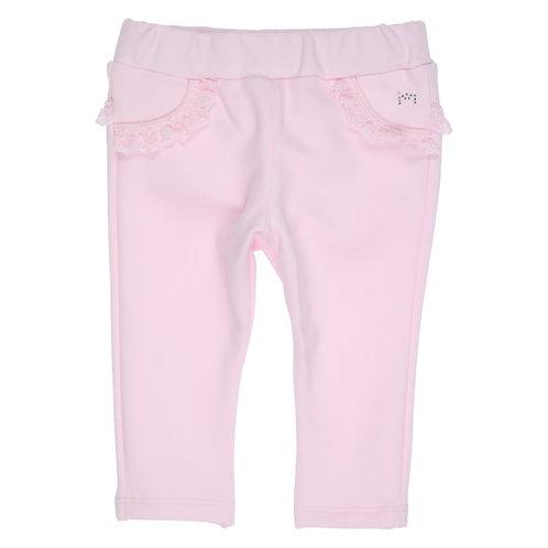 GYMP - Light Pink Lace Ribbon Pants